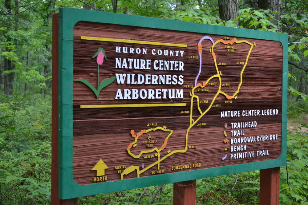 Huron County Nature Center Sign