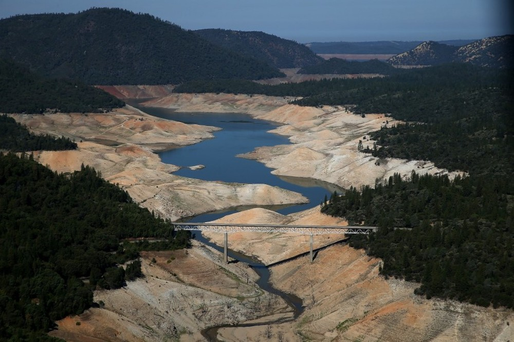 California's Lake Oroville in 2014