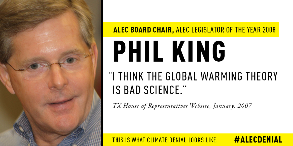 """I think the global warming theory is bad science."" TX House of Representatives Website, January, 2007."