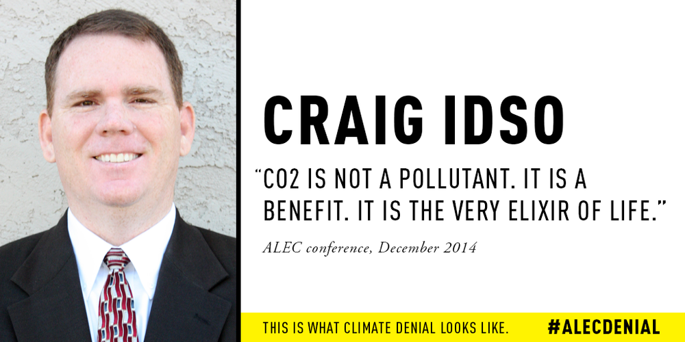 "Craig Idso: ""CO2 is not a pollutant. It is a benefit. It is the very elixir of life."" ALEC Conference, December 2014"