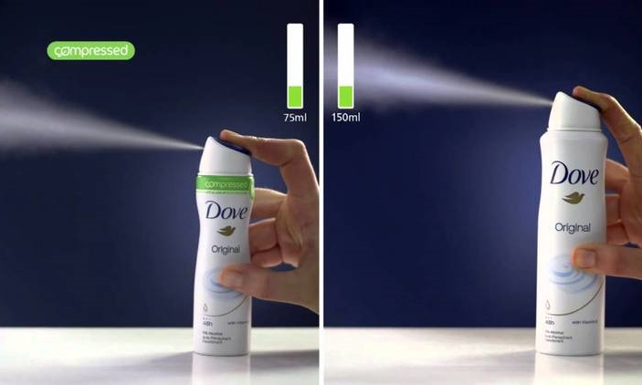 Pack Fact #7: Unilever Compressed Deodorant |Less is more