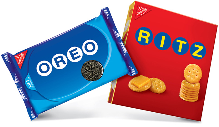 ON TARGET Target-only versions of Oreo and Ritz sported austere packaging.
