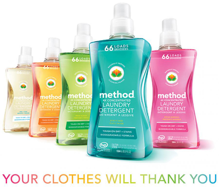 Method's 53-oz 4x Concentrated Laundry Detergents