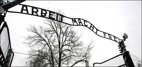 "Found at the entrance of Auschwitz. ""Work Will Set You Free"""