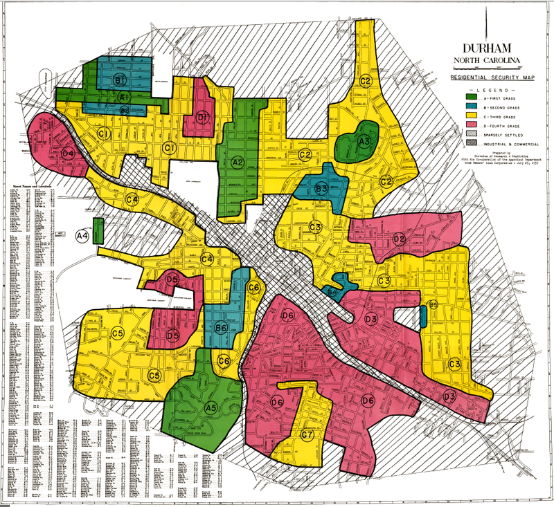 The Redlining of Durham, North Carolina