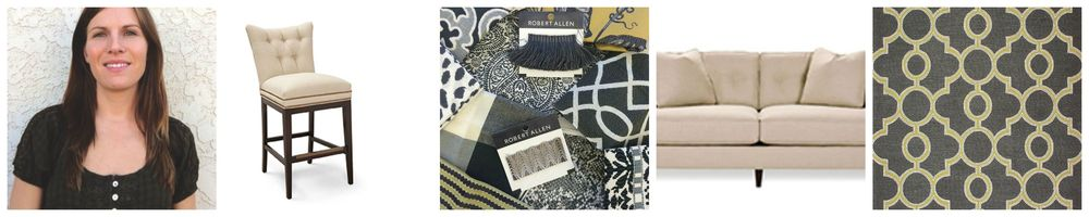 Custom Furnishings and Fabrics credit Robert Allen                       Area Rug by Jaunty