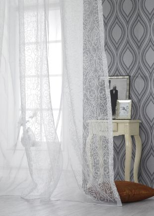 This beautiful Sheer by Gianti Fabrics is just the beginning to our Summer Scene. -