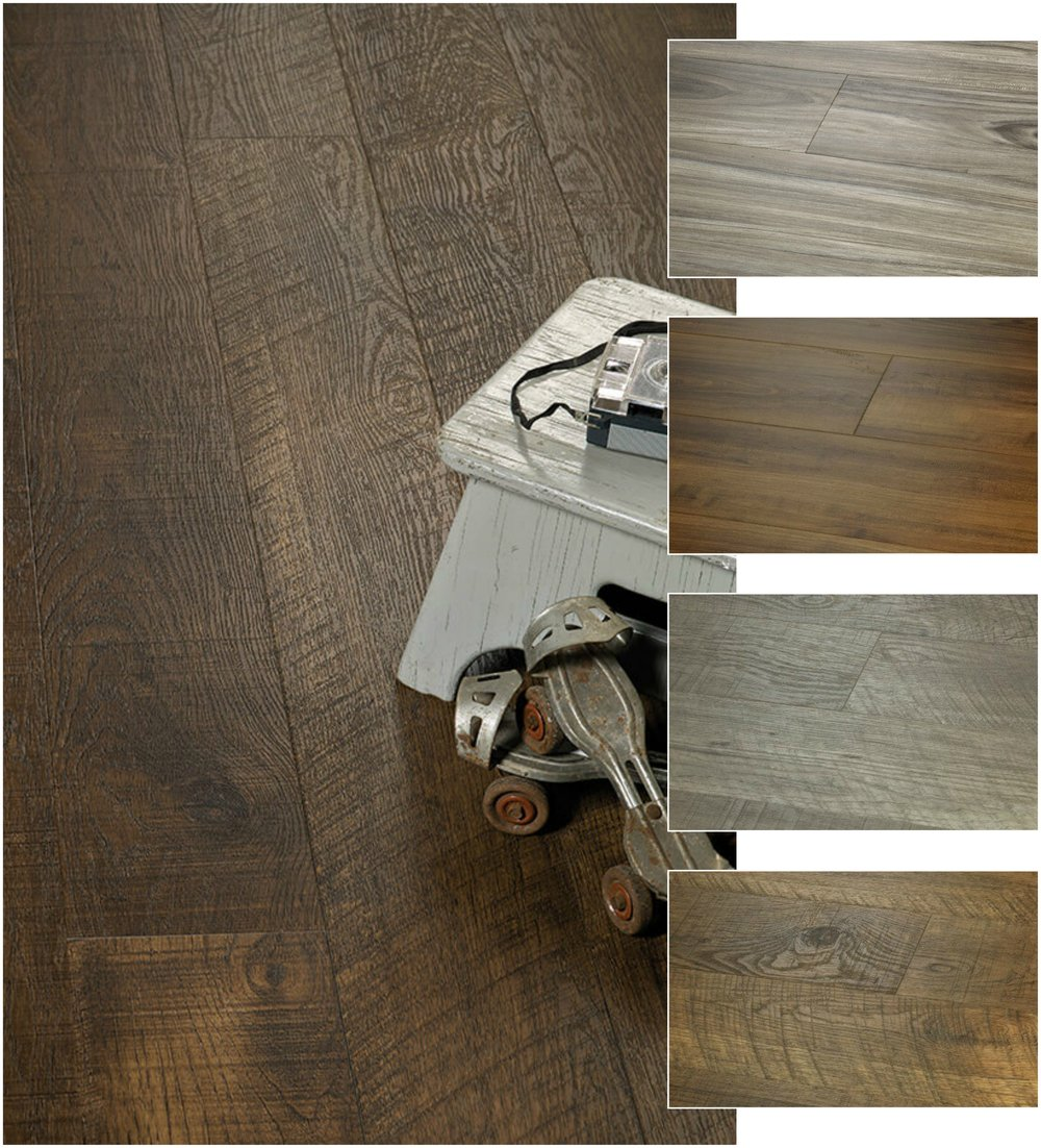Vinyl Planking - Here we are in 2018 and our Vinyl Planking is not what it use to be.  The innovation of Vinyl Plank is ever-changing, ever-evolving and now is 100% waterproof!  Offered in several wood-look styles that actually look more like a wood floor than vinyl.  Easy-care, and worry-free this waterproof vinyl plank floor has taken over our sales of all our wood-look products combined. Photo Courtesy:  Hallmark Floors - Courtier Premium Vinyl Plank