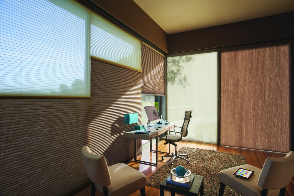 Motorized Honeycomb DuoLite    - For more on window covering motorization click here
