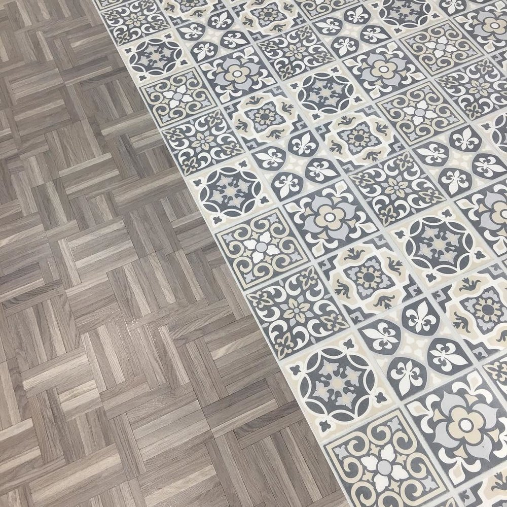 Mannington's AduraMax APEX increases their vinyl plank line with the Loft and Tracery series. High-style that's beautifully worry-free, the Loft collection is arranged in a classic Parquet pattern which is offered in three colorways. The Tracery collection is inspired by ornamental stone openwork in architecture creating unique designs in interlacing tiles.