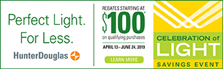 Our 'CELEBRATION OF LIGHT' Savings Event is happening now through June 24, 2019 with actual rebate savings on Luminette, Pirouette and Silhouette window shadings. Click the pic to learn more or     contact us     to schedule a complimentary consultation.
