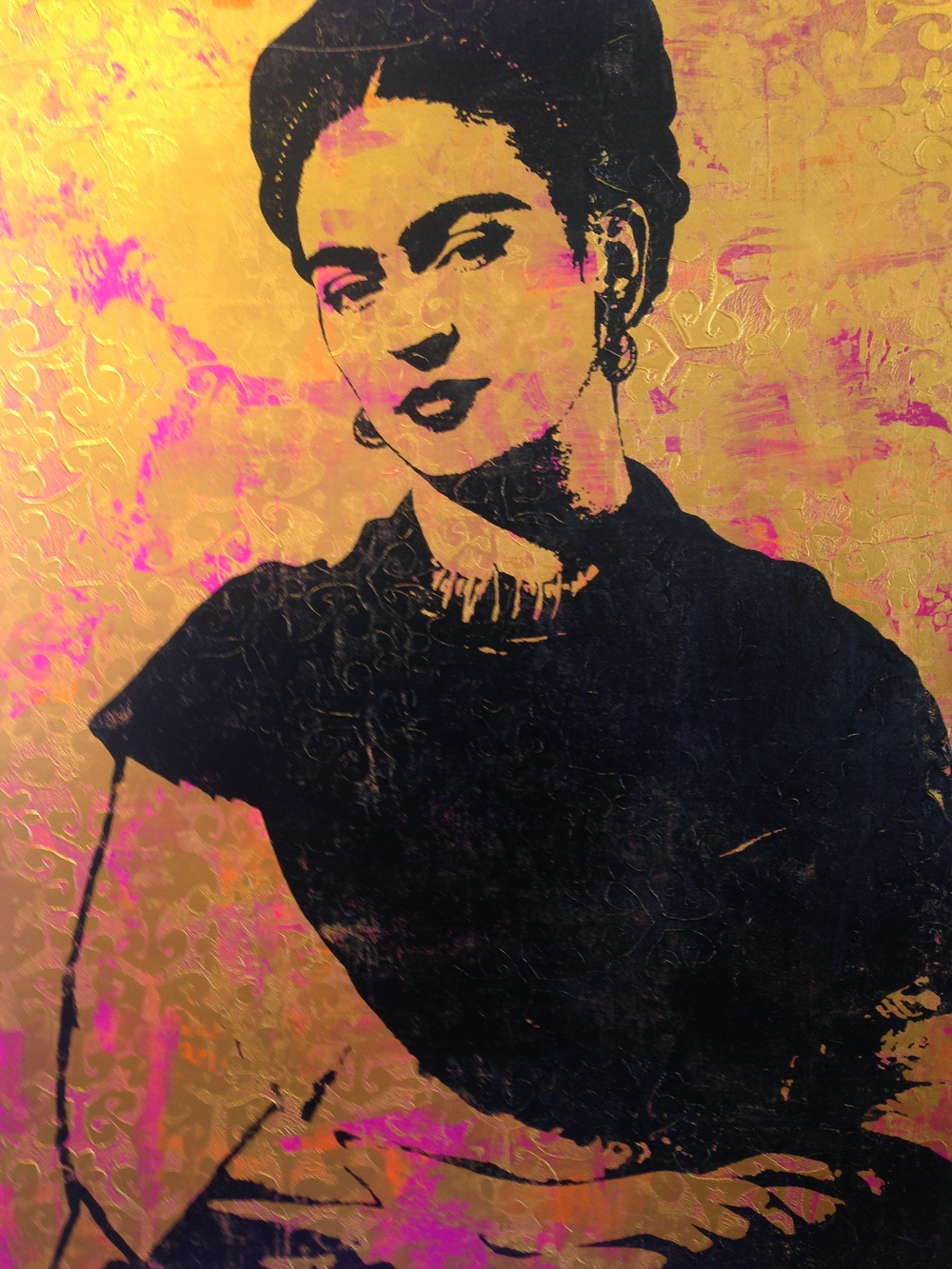"""Frida Kahlo"". Print by Georgia Barber."