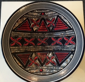 Tapa platter. Ceramic. Jengis Poor.