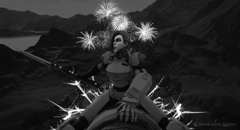 Gwen July 4th w. Fireworks