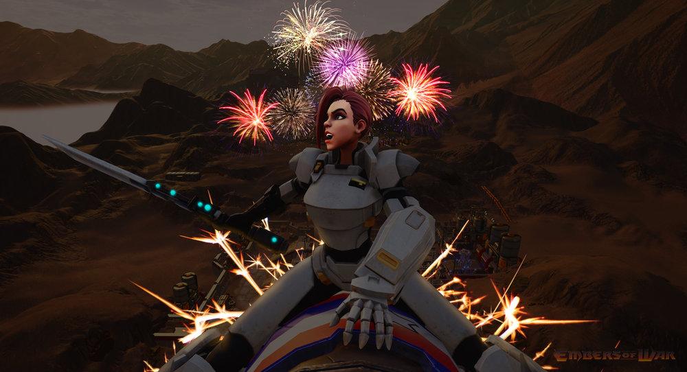Gwen July 4th Fireworks
