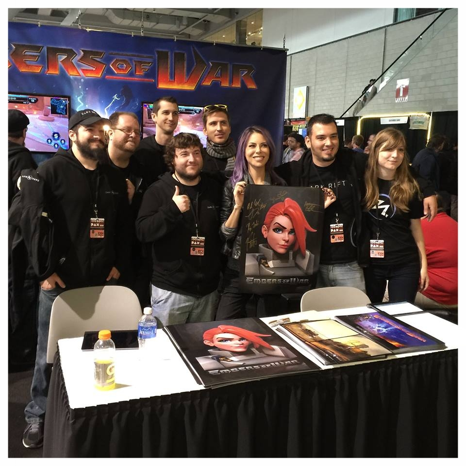 Most of the Dark Rift team and michele morrow who voices gwen.