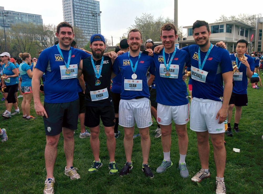 Toronto Gaelic Football Club - Sporting Life 10k, May 10th 2015 - 1.jpg