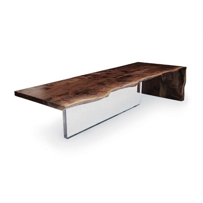 hudson plexi base coffee table