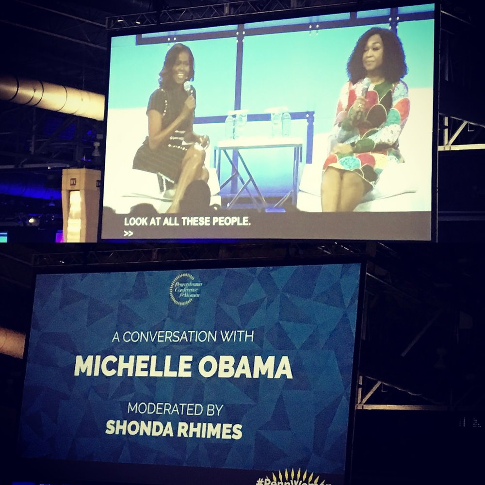 Former First Lady Michelle Obama & Shonda Rhimes provided advice, laughs, and truths that we will not soon forget!
