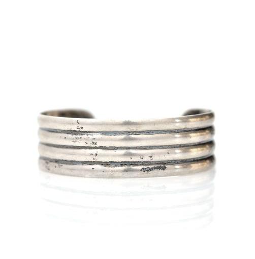 Sterling Silver Minimalist Cuff - Marteau