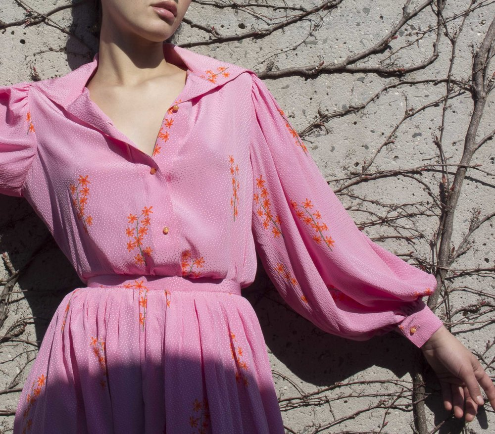1970s Geoffrey Beene Silk Set