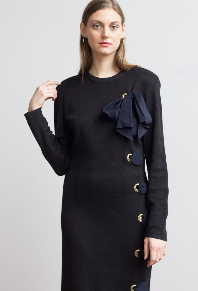 a210e555cca 1980s Italian Wool Lace-Up Sweater Dress — Wayward Collection