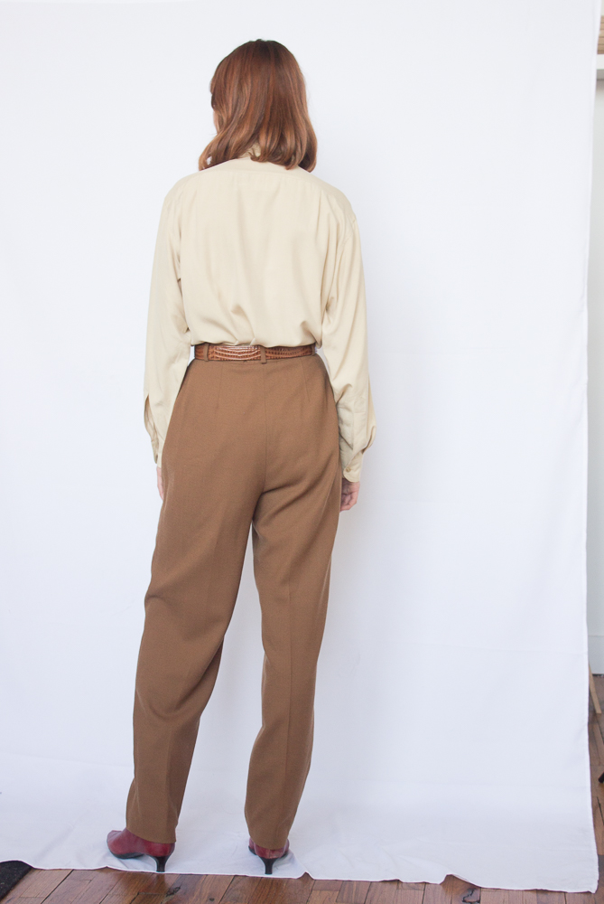 1980s Liz Claiborne Wool Crepe Trousers