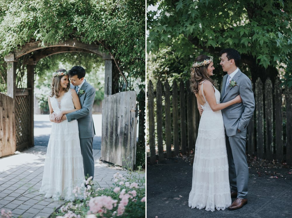 Ru's farm Wedding | Healdsburg CA | bride and groom | first look