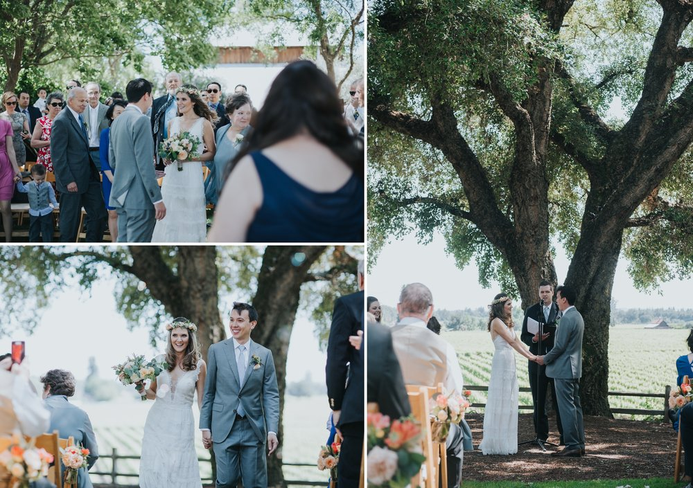 Ru's farm Wedding | Healdsburg CA | ceremony