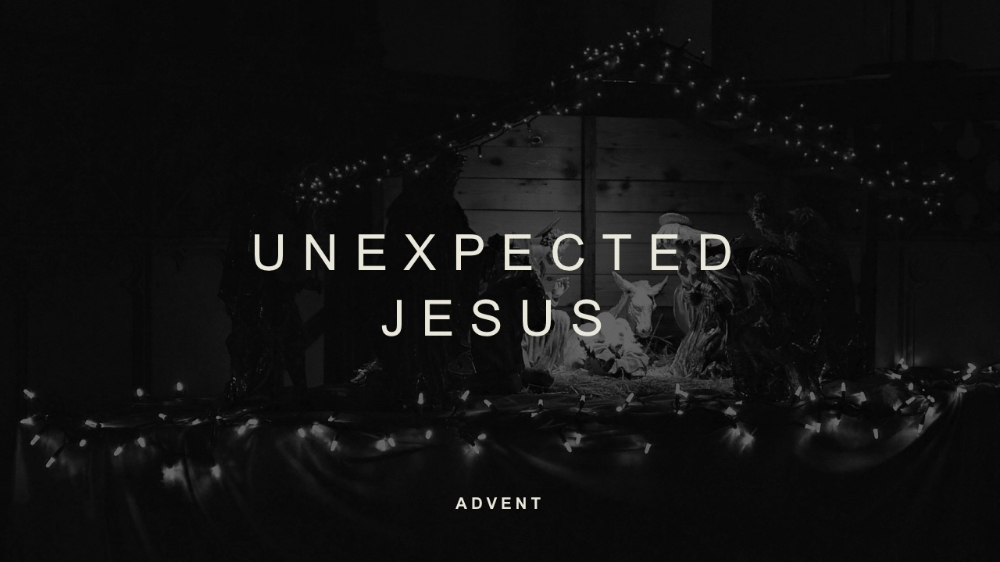 A 4-week look at the unexpected ways that Jesus is our Hope, Peace, Joy, and Love  using texts from the Gospel of Luke.