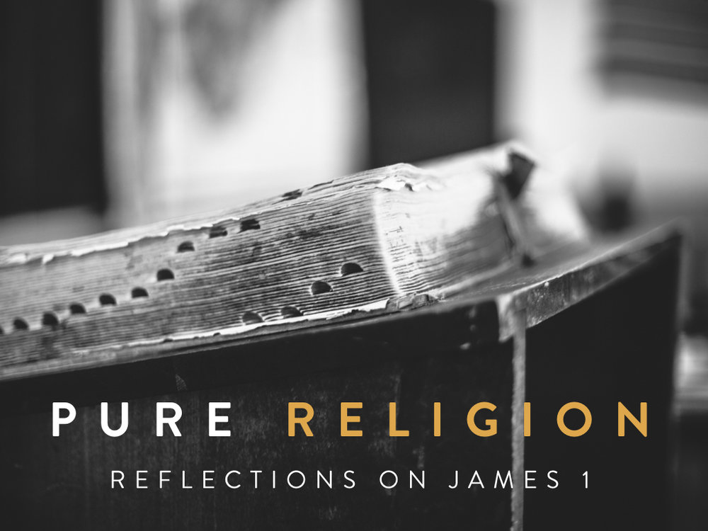 "Every religion does not have relationship, but every relationship has a religion, meaning practices and actions enabling the flourishing of that relationship.  James is a letter written for practical instruction on following Christ, summed up in the phrase ""pure religion.""  This teaching series is a five week reflection on the themes highlighted in James 1."