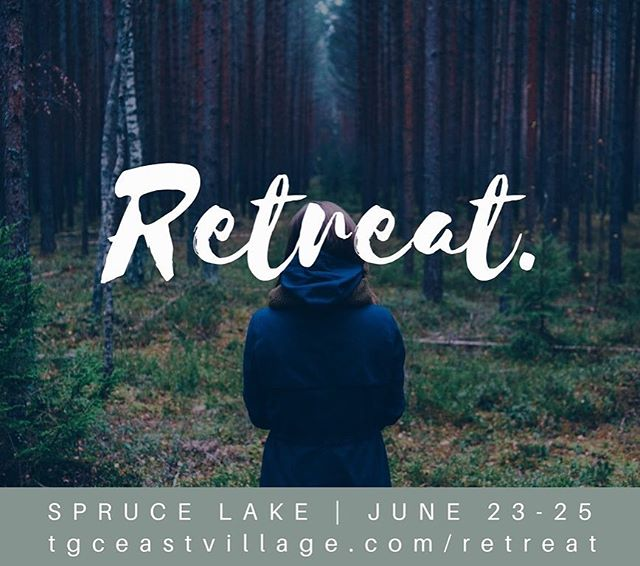 Are you coming to retreat?? You won't want to miss this weekend full of scenery, adventure, worship, reflection and friendship with Trinity Grace Church East Village + Crown Heights! EARLY BIRD TICKETS ON SALE NOW AT tgceastvillage.com/retreat