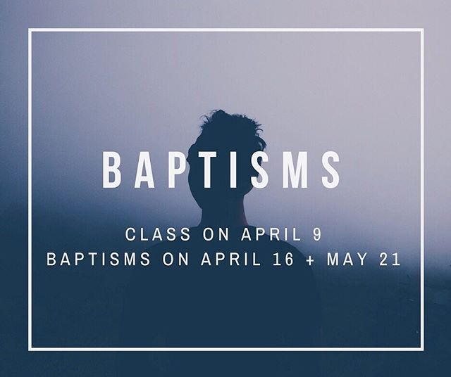 """John answered them all, 'I baptize you with water. But one who is more powerful than I will come, the straps of whose sandals I am not worthy to untie. He will baptize you with the Holy Spirit and fire'"" RSVP to our baptism class on April 9th to nikkif@trinitygracechurch.com We'd be honored to come alongside you in your journey."