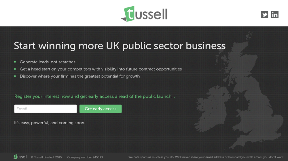 Tussell placeholder website