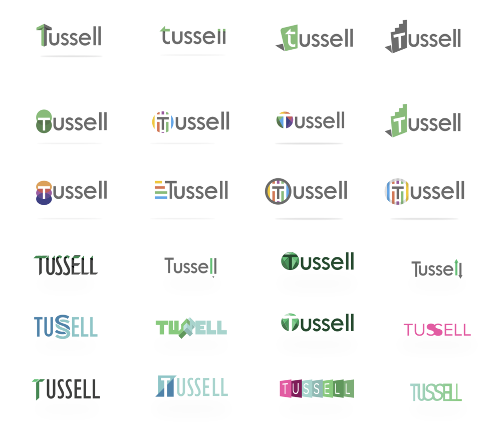 Tussell logo explorations