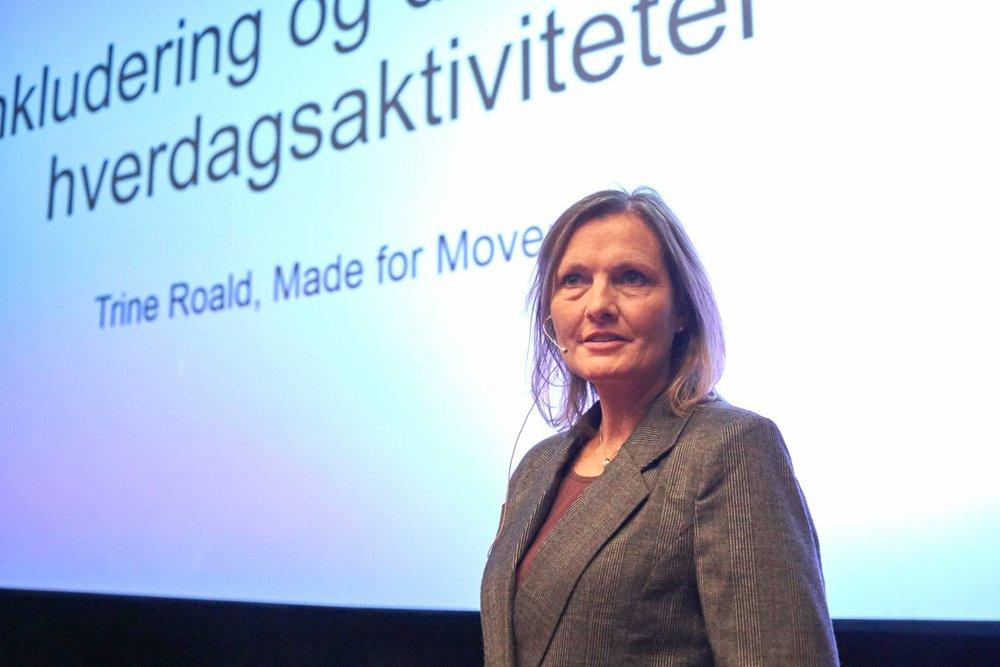 Trine Rold i Made for Movement fortalte om hvilke muligheter innovasjonen innen hjelpemidler gir.