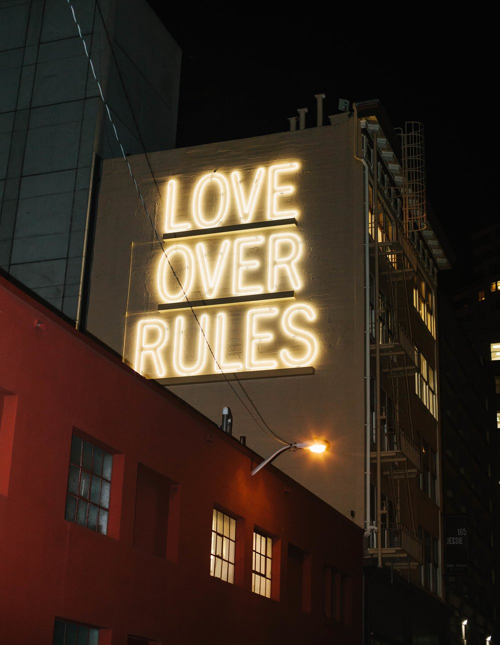 LOVE OVER RULES  by Hank Willis Thomas. Photograph by Mariah Tiffany.