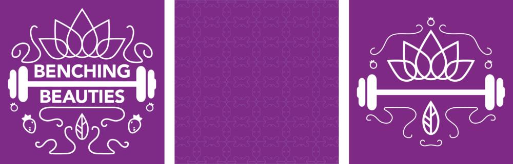 Benching Beauties logo, splash screen pattern and app icon.