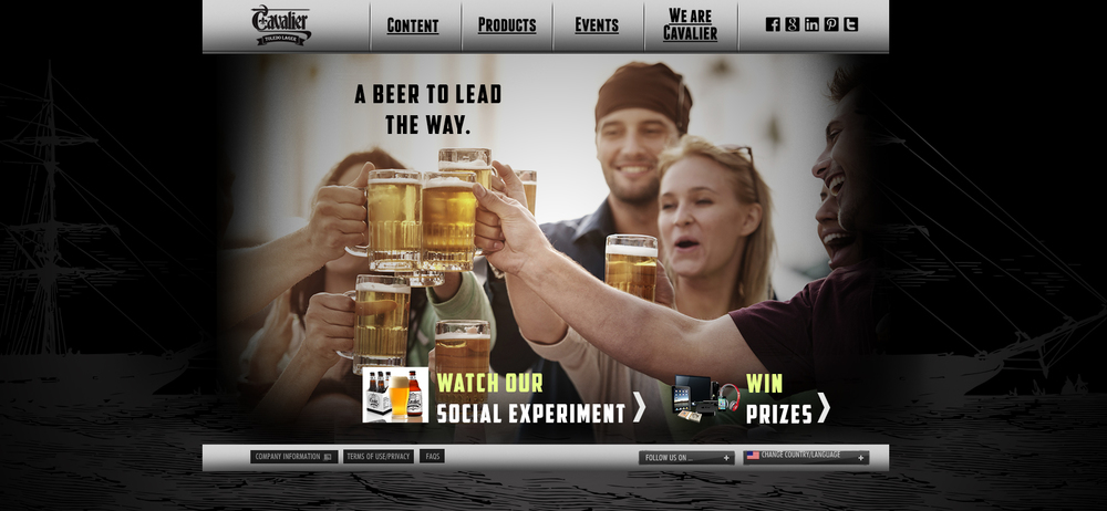 Website Design _ Cavalier Beer
