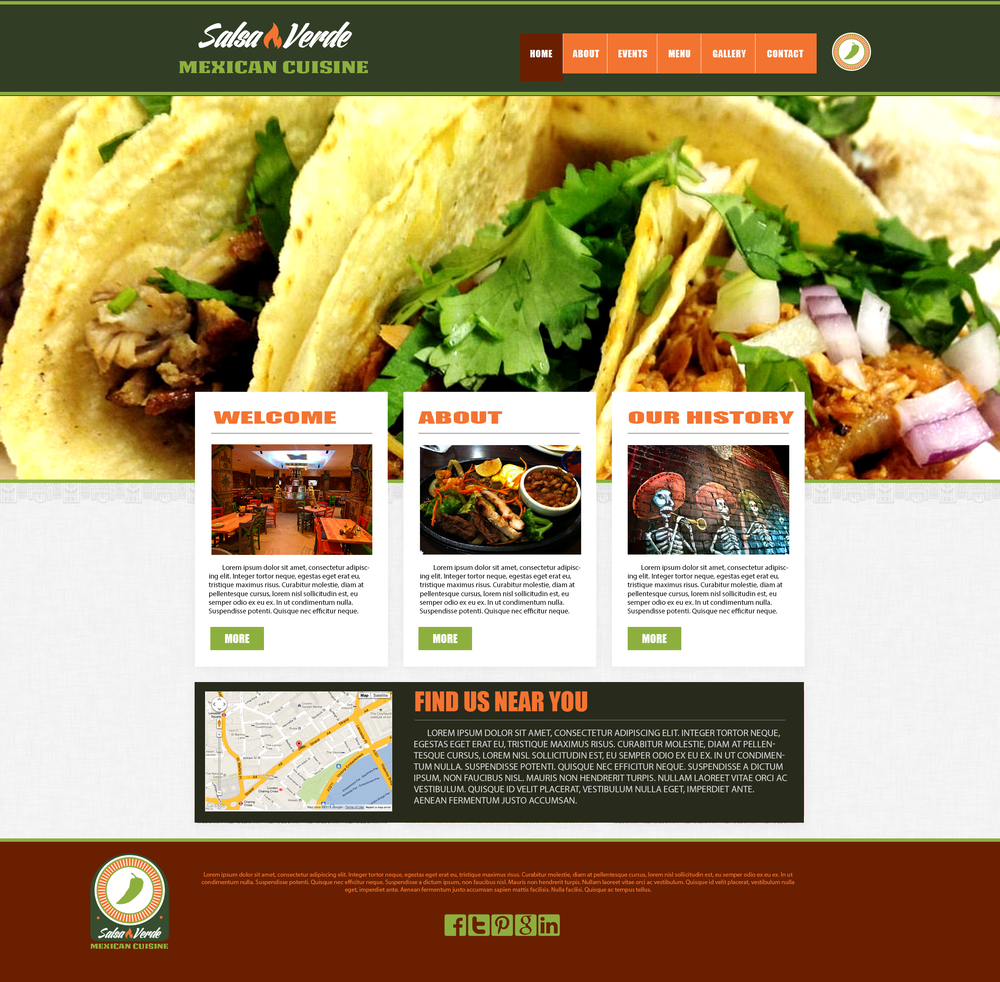 Salsa Verde Website design