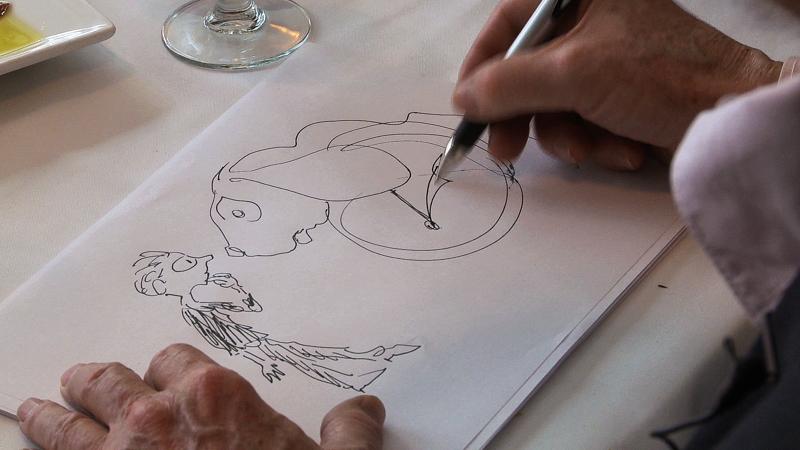 Jules Feiffer draws Milo & Tock