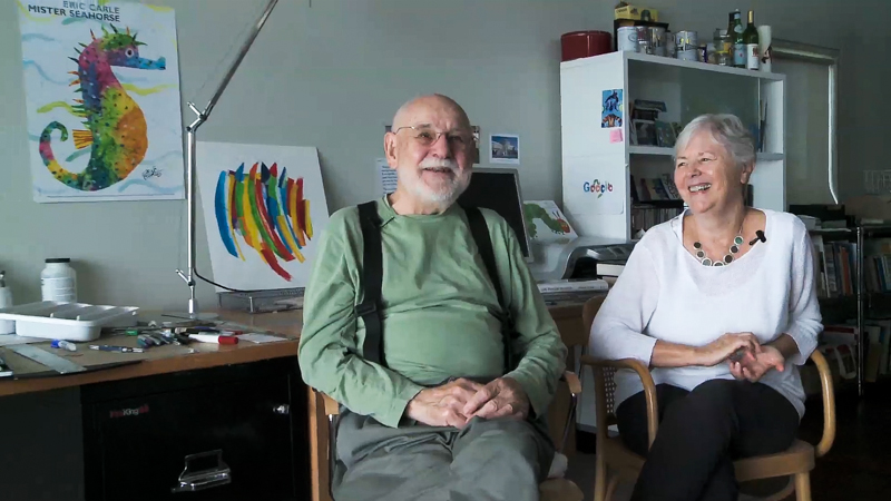 Eric Carle, author of The Very Hungry Caterpillar, and wife Bobbie on their long friendship with Norton Juster