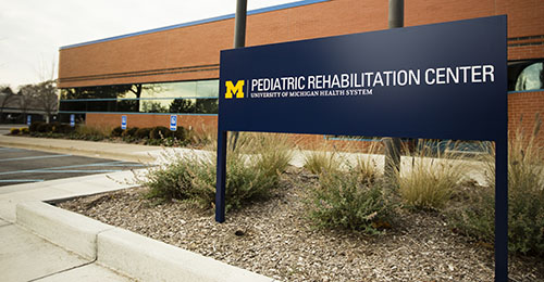 front view of University of Michigan's Pediatric Rehabilitation Center