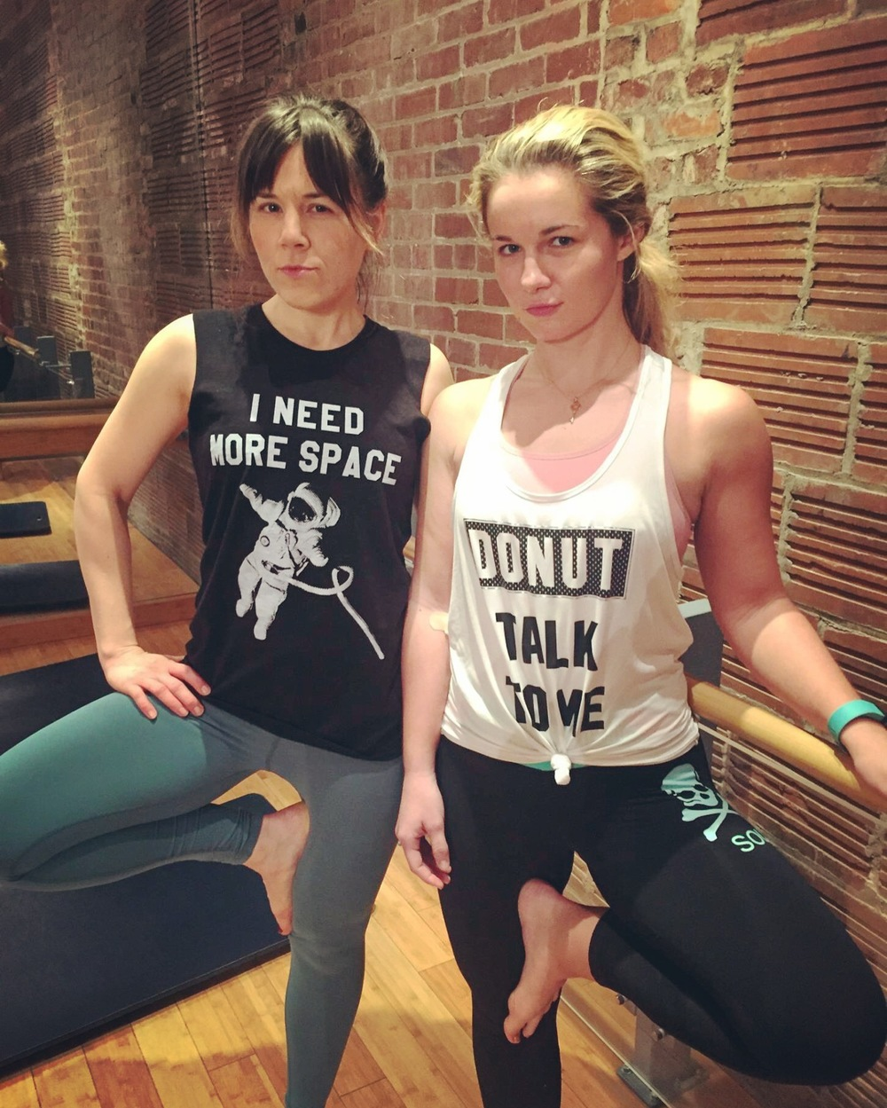 sassy as hell at barre3 (one of the benefits of being happy = energy to exercise!)