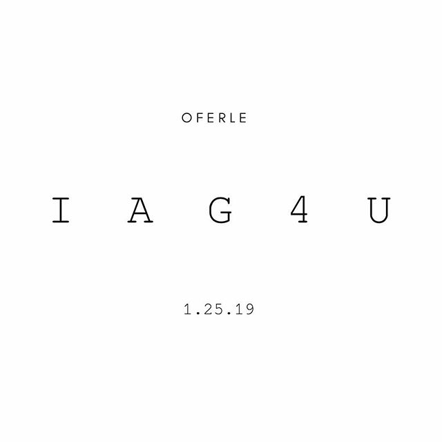 New Single. This Friday. || I A G 4 U