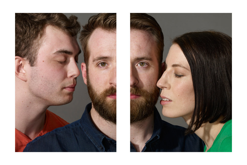 Cameron Harris, Michael Ryan Buckley and Kate Asson identify as bisexual (though they are not in a relationship with one another).     Hannah Whitaker for The New York Times