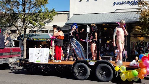 AmBi's Rocky Horror themed float