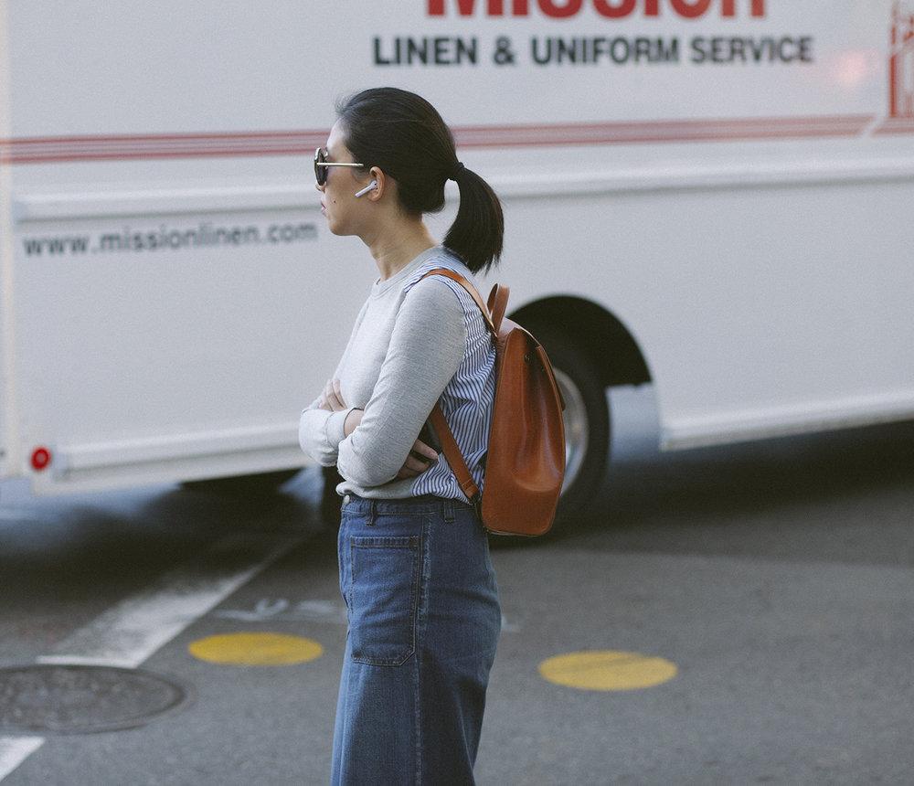 I dig her uniform.