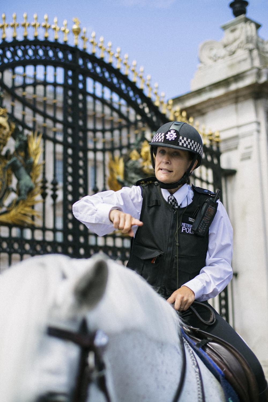 Police Officer outside Buckingham Palace