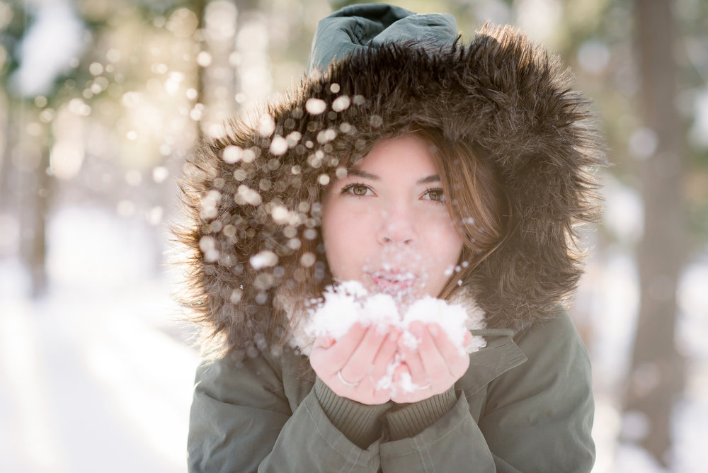 winter wonderland senior session